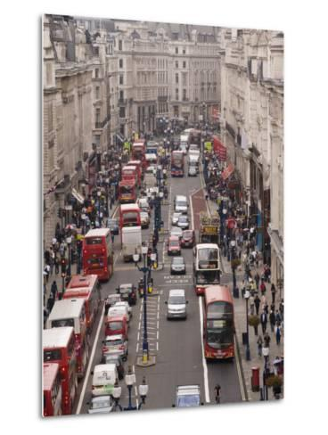 Aerial View of Traffic in Downtown London-xPacifica-Metal Print
