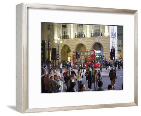 Commuters at Rush Hour Near the Alliance Life Office Building-xPacifica-Framed Art Print