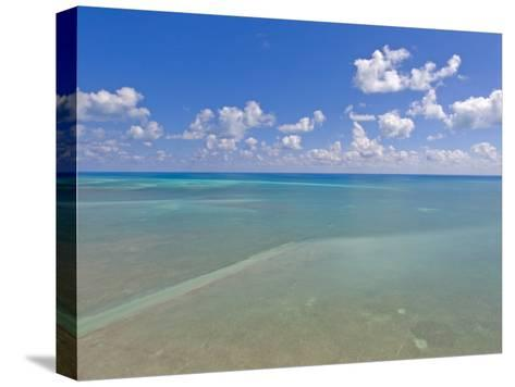 Rich Blue Hues in Sky and Waters Off the Florida Keys-Mike Theiss-Stretched Canvas Print
