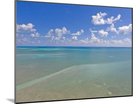 Rich Blue Hues in Sky and Waters Off the Florida Keys-Mike Theiss-Mounted Photographic Print