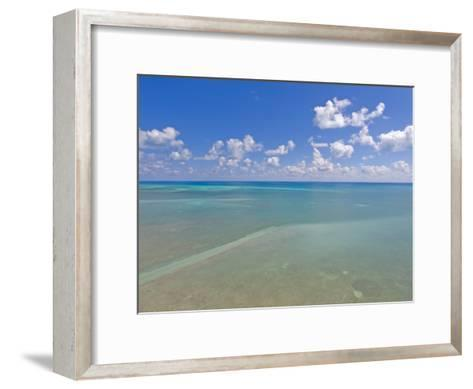 Rich Blue Hues in Sky and Waters Off the Florida Keys-Mike Theiss-Framed Art Print