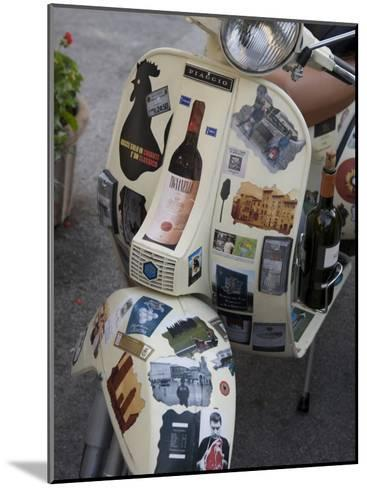 Scooter Covered with Wine Labels and Stickers-Keenpress-Mounted Photographic Print