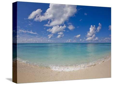 Perfect Beach Day with Blue Skies, Clear Water, Puffy White Clouds-Mike Theiss-Stretched Canvas Print