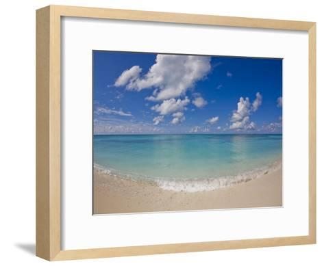 Perfect Beach Day with Blue Skies, Clear Water, Puffy White Clouds-Mike Theiss-Framed Art Print