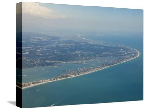 Aerial View of the Tampa Area and the West Coast Beaches of Florida-Mike Theiss-Stretched Canvas Print