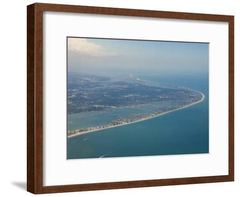 Aerial View of the Tampa Area and the West Coast Beaches of Florida-Mike Theiss-Framed Art Print