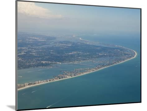 Aerial View of the Tampa Area and the West Coast Beaches of Florida-Mike Theiss-Mounted Photographic Print