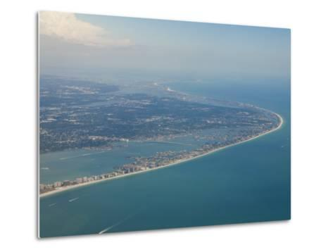 Aerial View of the Tampa Area and the West Coast Beaches of Florida-Mike Theiss-Metal Print