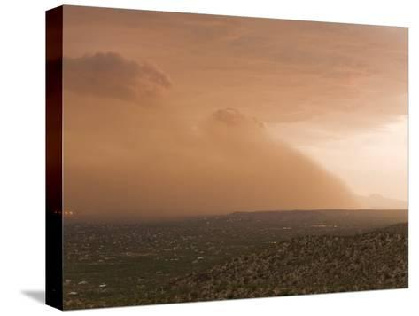 Haboob, Like a Dust Storm, Engulfing the Entire City of Tucson-Mike Theiss-Stretched Canvas Print