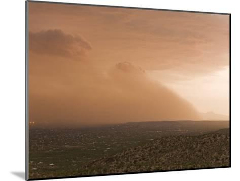 Haboob, Like a Dust Storm, Engulfing the Entire City of Tucson-Mike Theiss-Mounted Photographic Print