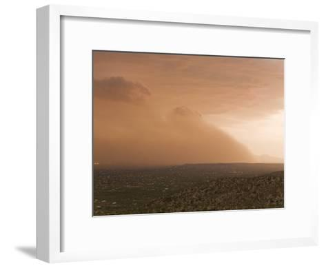Haboob, Like a Dust Storm, Engulfing the Entire City of Tucson-Mike Theiss-Framed Art Print