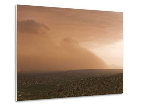 Haboob, Like a Dust Storm, Engulfing the Entire City of Tucson-Mike Theiss-Metal Print