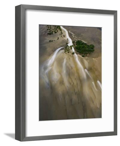 Small Islands in the Tidal Flats of the Coast Line-Michael Polzia-Framed Art Print
