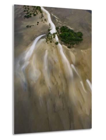 Small Islands in the Tidal Flats of the Coast Line-Michael Polzia-Metal Print