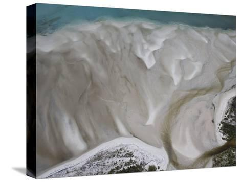 Tidal Water Patterns Along the Coast of Mozambique-Michael Polzia-Stretched Canvas Print