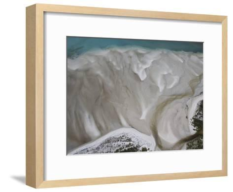 Tidal Water Patterns Along the Coast of Mozambique-Michael Polzia-Framed Art Print