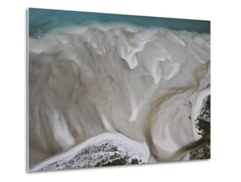 Tidal Water Patterns Along the Coast of Mozambique-Michael Polzia-Metal Print