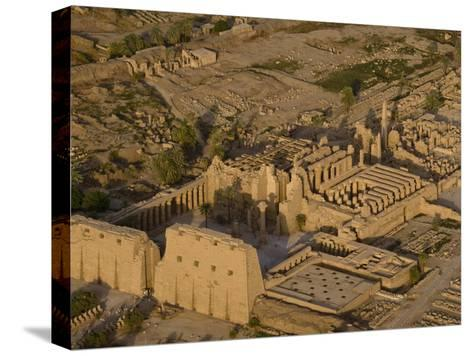Aerial View of the Large Temple Complex at Karnak-Michael Polzia-Stretched Canvas Print