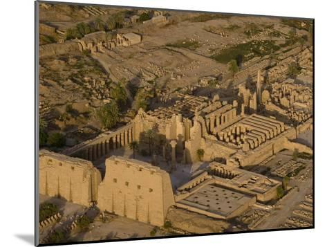 Aerial View of the Large Temple Complex at Karnak-Michael Polzia-Mounted Photographic Print