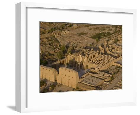 Aerial View of the Large Temple Complex at Karnak-Michael Polzia-Framed Art Print