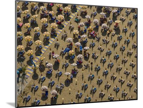 Pattern of Beach Umbrellas and Chairs-Michael Polzia-Mounted Photographic Print