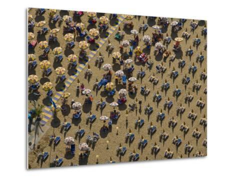 Pattern of Beach Umbrellas and Chairs-Michael Polzia-Metal Print