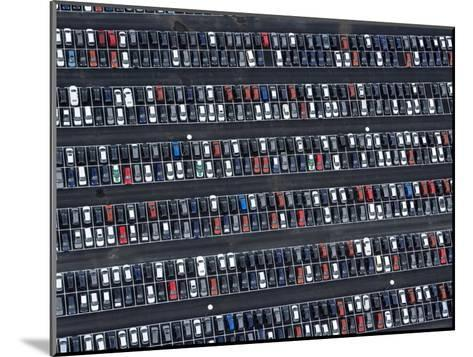 Parked VW Cars at the Wolfsburg Manufacturing Plant-Michael Polzia-Mounted Photographic Print