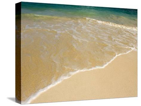 Gentle Wave Washes Ashore on the Sands of Kailua Beach in Hawaii-Charles Kogod-Stretched Canvas Print