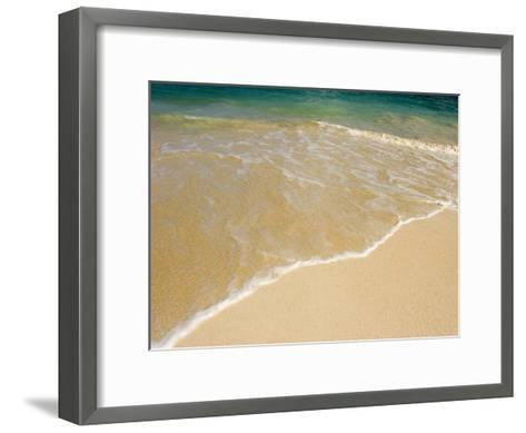 Gentle Wave Washes Ashore on the Sands of Kailua Beach in Hawaii-Charles Kogod-Framed Art Print