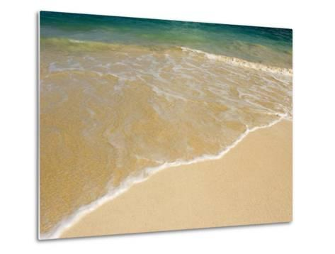 Gentle Wave Washes Ashore on the Sands of Kailua Beach in Hawaii-Charles Kogod-Metal Print