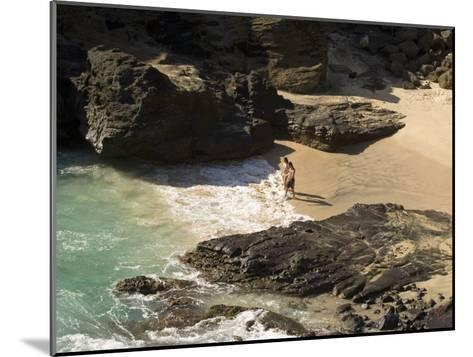 Couple on Halona Beach on Oahu, Hawaii-Charles Kogod-Mounted Photographic Print