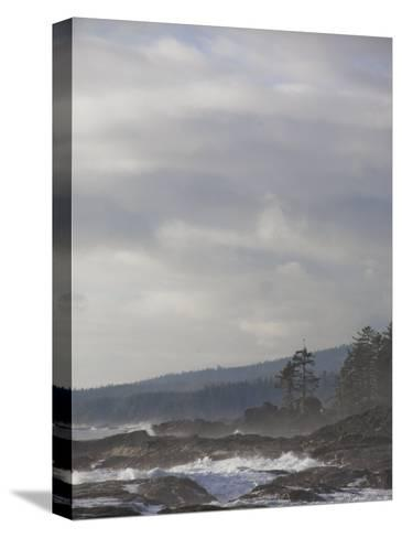 Stormy Day on Vancouver Island's West Coast-Taylor S^ Kennedy-Stretched Canvas Print