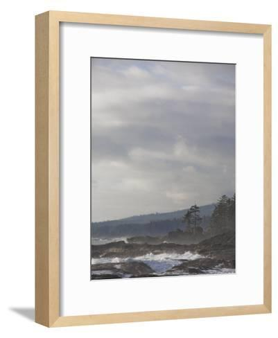 Stormy Day on Vancouver Island's West Coast-Taylor S^ Kennedy-Framed Art Print