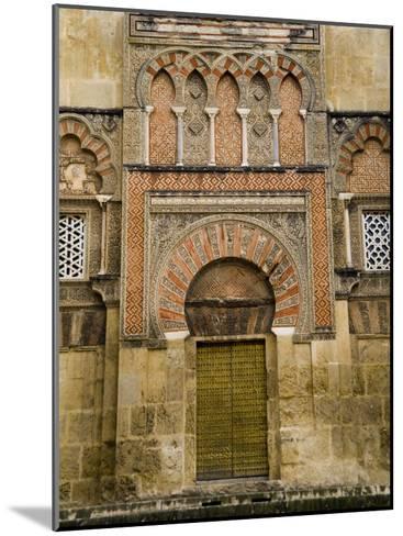 Moorish Architectural Detail of the Mezquita in Cordoba, Spain-Scott Warren-Mounted Photographic Print