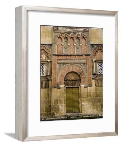 Moorish Architectural Detail of the Mezquita in Cordoba, Spain-Scott Warren-Framed Art Print