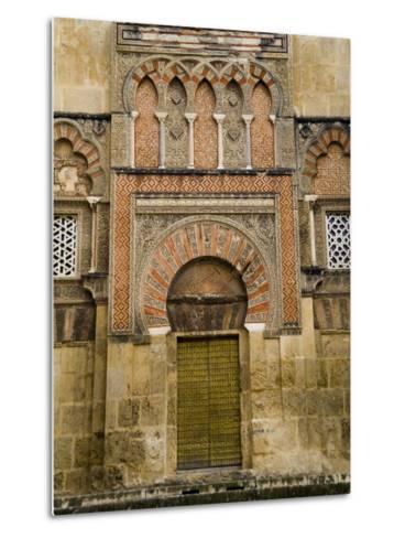 Moorish Architectural Detail of the Mezquita in Cordoba, Spain-Scott Warren-Metal Print