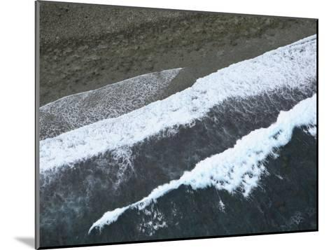 Aerial View of Surf Hitting the Beach on Pohnpei Island-Stephen Alvarez-Mounted Photographic Print