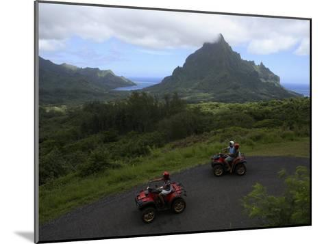 Tourists Riding All Terrain Vehicles on Moorea Island-Stephen Alvarez-Mounted Photographic Print