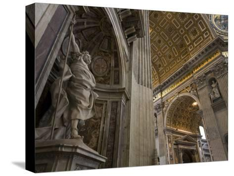 Statue of Saint Longinus by Bernini Inside Saint Peter's Basilica-Scott Warren-Stretched Canvas Print