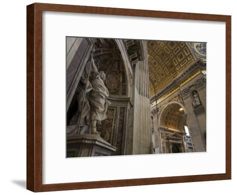 Statue of Saint Longinus by Bernini Inside Saint Peter's Basilica-Scott Warren-Framed Art Print