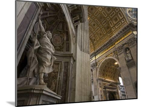 Statue of Saint Longinus by Bernini Inside Saint Peter's Basilica-Scott Warren-Mounted Photographic Print