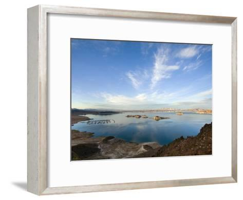 Lake Mead at Dusk with Power Lines from the Hoover Dam Power Plant-Scott Warren-Framed Art Print