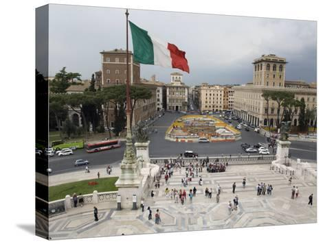 Piazza Venezia from the Steps of the Vittorio Emanuele II Monument-Scott Warren-Stretched Canvas Print