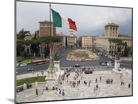 Piazza Venezia from the Steps of the Vittorio Emanuele II Monument-Scott Warren-Mounted Photographic Print