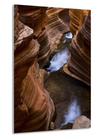 Cascades Along Deer Creek in Slot Canyon, Grand Canyon National Park-Ralph Lee Hopkins-Metal Print