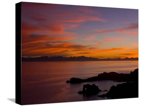 Sunset over the Baja Peninsula, Seen from Catalina Island-Ralph Lee Hopkins-Stretched Canvas Print