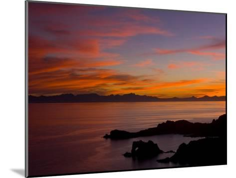 Sunset over the Baja Peninsula, Seen from Catalina Island-Ralph Lee Hopkins-Mounted Photographic Print