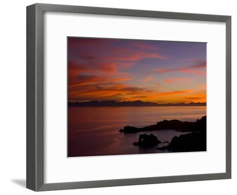 Sunset over the Baja Peninsula, Seen from Catalina Island-Ralph Lee Hopkins-Framed Art Print