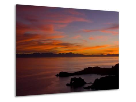 Sunset over the Baja Peninsula, Seen from Catalina Island-Ralph Lee Hopkins-Metal Print