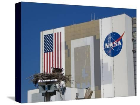 Osprey's Nest at the Vehicle Assembly Building at Kennedy Space Center-Mike Theiss-Stretched Canvas Print